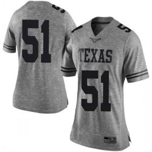 Women Texas Longhorns Jakob Sell #51 Limited Gray Football Jersey 156304-278