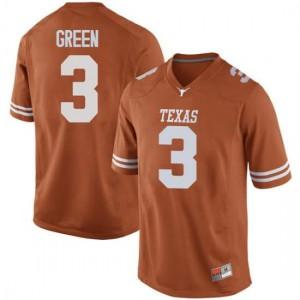 Men Texas Longhorns Jalen Green #3 Replica Orange Football Jersey 694948-865