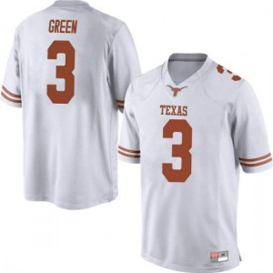 Men Texas Longhorns Jalen Green #3 Replica White Football Jersey 306422-553