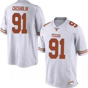 Men Texas Longhorns Jamari Chisholm #91 Game White Football Jersey 220407-939