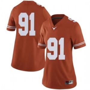 Women Texas Longhorns Jamari Chisholm #91 Limited Orange Football Jersey 112995-165