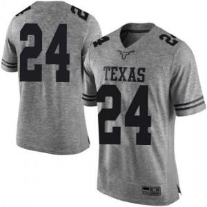 Men Texas Longhorns Jarmarquis Durst #24 Limited Gray Football Jersey 178673-728