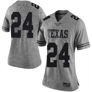 Women Texas Longhorns Jarmarquis Durst #24 Limited Gray Football Jersey 299869-236
