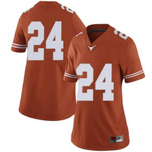 Women Texas Longhorns Jarmarquis Durst #24 Limited Orange Football Jersey 314874-199