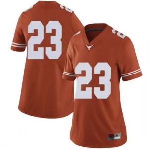 Women Texas Longhorns Jarrett Smith #23 Limited Orange Football Jersey 118038-294