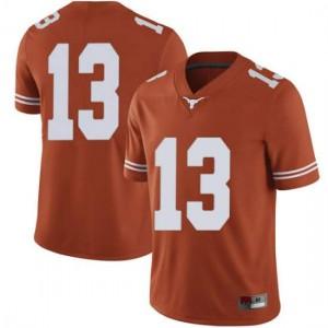 Men Texas Longhorns Jase Febres #13 Limited Orange Football Jersey 478386-544