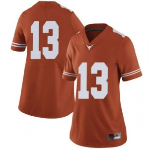 Women Texas Longhorns Jase Febres #13 Limited Orange Football Jersey 488219-193