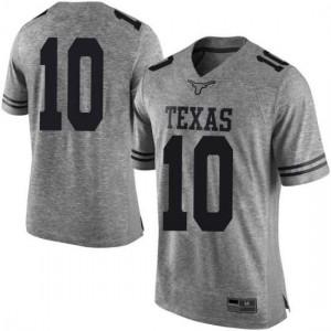 Men Texas Longhorns Jaxson Hayes #10 Limited Gray Football Jersey 375297-262