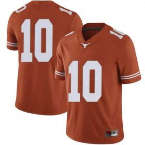 Men Texas Longhorns Jaxson Hayes #10 Limited Orange Football Jersey 757502-376