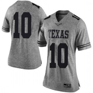 Women Texas Longhorns Jaxson Hayes #10 Limited Gray Football Jersey 587013-526