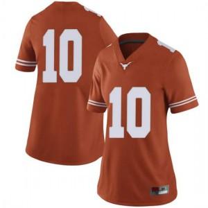 Women Texas Longhorns Jaxson Hayes #10 Limited Orange Football Jersey 869339-896
