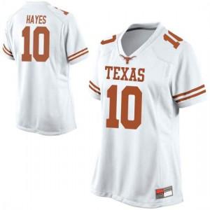 Women Texas Longhorns Jaxson Hayes #10 Replica White Football Jersey 921701-492