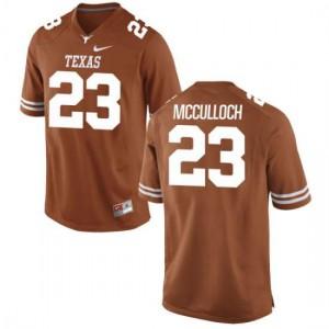 Men Texas Longhorns Jeffrey McCulloch #23 Authentic Tex Orange Football Jersey 474102-797
