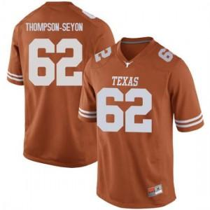 Men Texas Longhorns Jeremy Thompson-Seyon #62 Replica Orange Football Jersey 282680-722