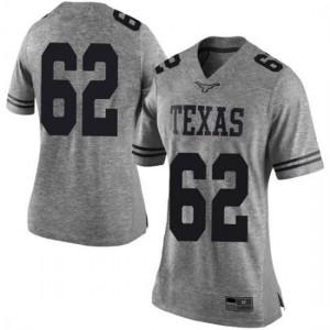 Women Texas Longhorns Jeremy Thompson-Seyon #62 Limited Gray Football Jersey 673353-973