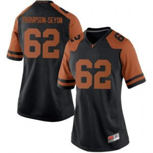 Women Texas Longhorns Jeremy Thompson-Seyon #62 Replica Black Football Jersey 645161-944