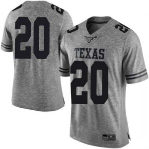 Men Texas Longhorns Jericho Sims #20 Limited Gray Football Jersey 966097-336