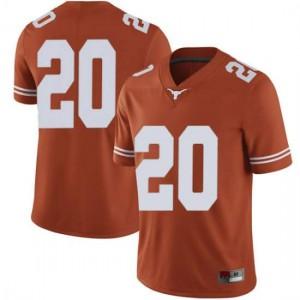 Men Texas Longhorns Jericho Sims #20 Limited Orange Football Jersey 384590-173
