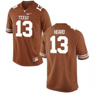 Men Texas Longhorns Jerrod Heard #13 Authentic Tex Orange Football Jersey 730922-499