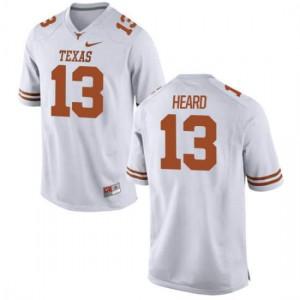Women Texas Longhorns Jerrod Heard #13 Game White Football Jersey 872019-734