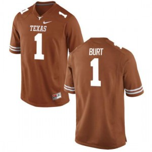 Men Texas Longhorns John Burt #1 Authentic Tex Orange Football Jersey 471584-329