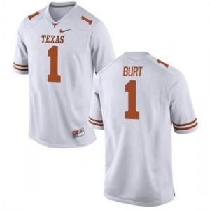 Men Texas Longhorns John Burt #1 Authentic White Football Jersey 671388-961