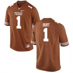 Women Texas Longhorns John Burt #1 Authentic Tex Orange Football Jersey 153883-396