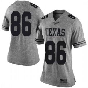 Women Texas Longhorns Jordan Pouncey #86 Limited Gray Football Jersey 174557-597