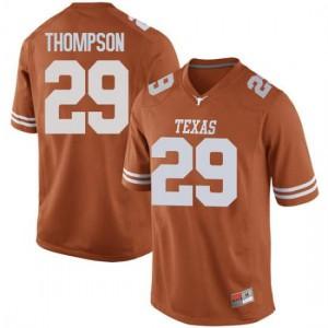 Men Texas Longhorns Josh Thompson #29 Game Orange Football Jersey 914438-184