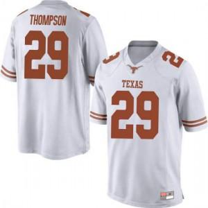 Men Texas Longhorns Josh Thompson #29 Replica White Football Jersey 877123-126