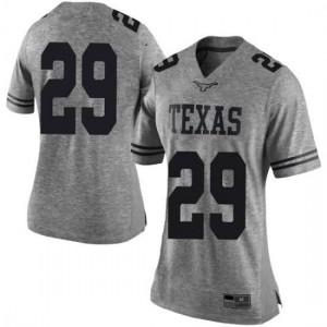 Women Texas Longhorns Josh Thompson #29 Limited Gray Football Jersey 180291-452