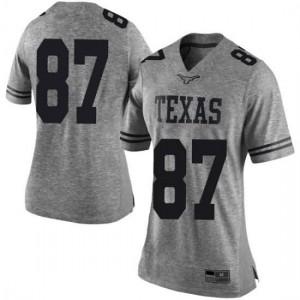 Women Texas Longhorns Joshua Matthews #87 Limited Gray Football Jersey 381420-858