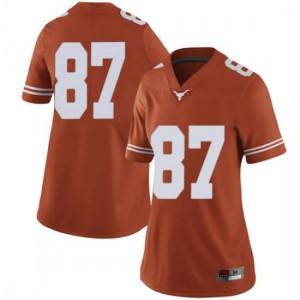 Women Texas Longhorns Joshua Matthews #87 Limited Orange Football Jersey 202503-427