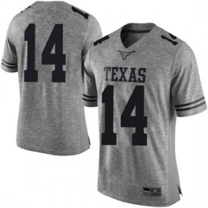Men Texas Longhorns Joshua Moore #14 Limited Gray Football Jersey 759586-821