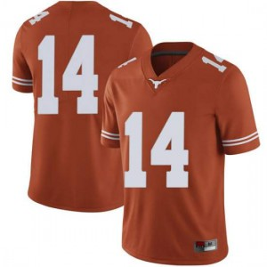 Men Texas Longhorns Joshua Moore #14 Limited Orange Football Jersey 561823-968