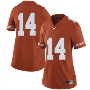 Women Texas Longhorns Joshua Moore #14 Limited Orange Football Jersey 269158-942