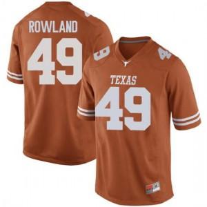 Men Texas Longhorns Joshua Rowland #49 Game Orange Football Jersey 191061-502