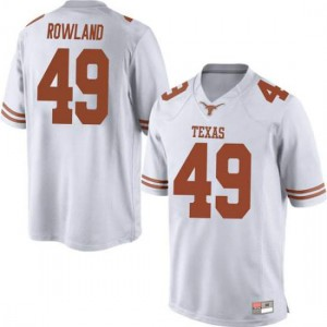 Men Texas Longhorns Joshua Rowland #49 Game White Football Jersey 814809-881