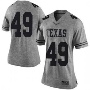 Women Texas Longhorns Joshua Rowland #49 Limited Gray Football Jersey 724916-997