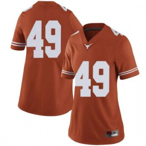 Women Texas Longhorns Joshua Rowland #49 Limited Orange Football Jersey 174697-178