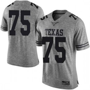 Men Texas Longhorns Junior Angilau #75 Limited Gray Football Jersey 230707-811