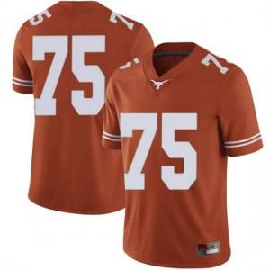 Men Texas Longhorns Junior Angilau #75 Limited Orange Football Jersey 389212-738