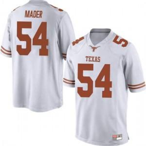 Men Texas Longhorns Justin Mader #54 Game White Football Jersey 604600-859
