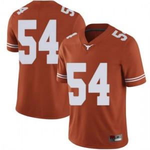 Men Texas Longhorns Justin Mader #54 Limited Orange Football Jersey 308118-669