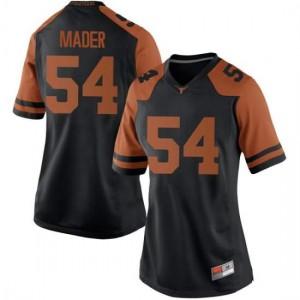 Women Texas Longhorns Justin Mader #54 Game Black Football Jersey 296950-844