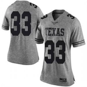 Women Texas Longhorns Kamaka Hepa #33 Limited Gray Football Jersey 686172-636