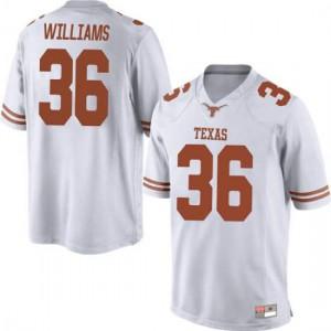 Men Texas Longhorns Kamari Williams #36 Game White Football Jersey 178060-364