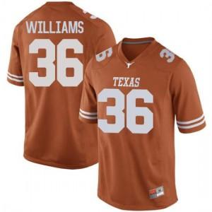 Men Texas Longhorns Kamari Williams #36 Replica Orange Football Jersey 668471-800