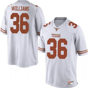 Men Texas Longhorns Kamari Williams #36 Replica White Football Jersey 384866-436