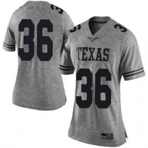 Women Texas Longhorns Kamari Williams #36 Limited Gray Football Jersey 432422-618